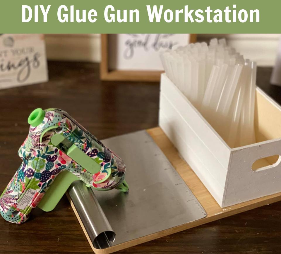 Dollar Tree – DIY Hot Glue Gun Work Station