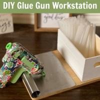 Dollar Tree - DIY Hot Glue Gun Work Station