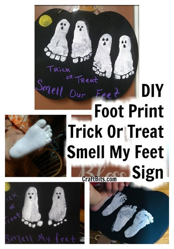 Trick Or Treat Foot Print Wall Hanging