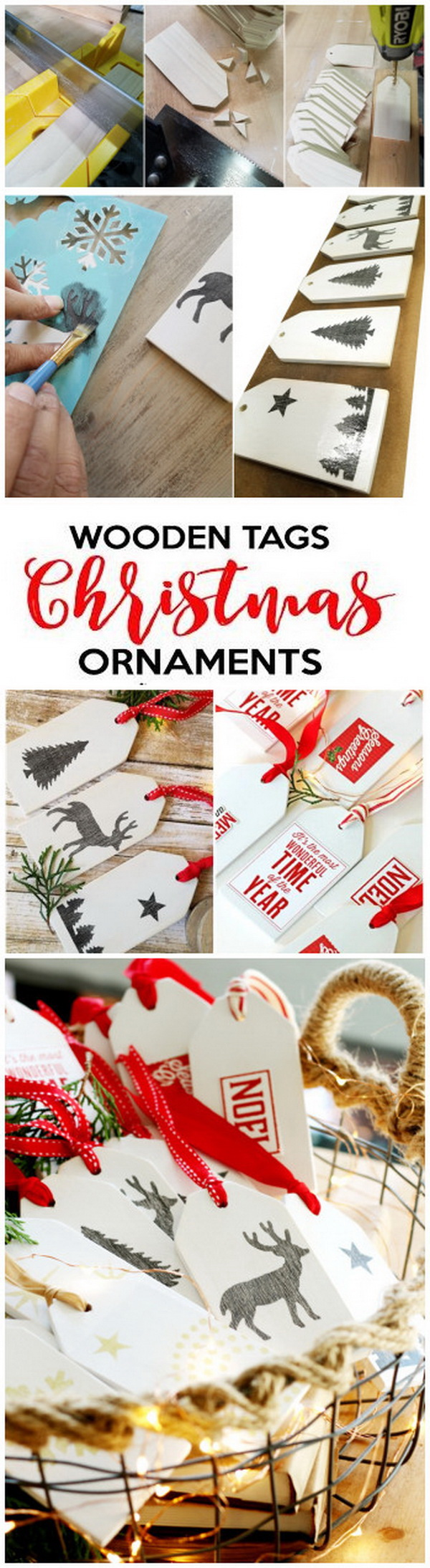 Wooden Tags Christmas Ornament. Love the simple, rustic charm of these wooden tags ornaments! They make great gifts and they'll also look good both on your tree and tied to packages.