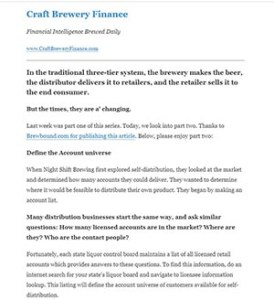 an example of the craft brewery finance newsletter