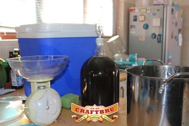 A fermenter full what will hopefully be an interesting Robust Porter.