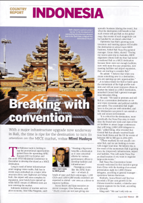 Grand Nikko Bali public relations agency client rebranding case study media coverage in TTG Mice magazine