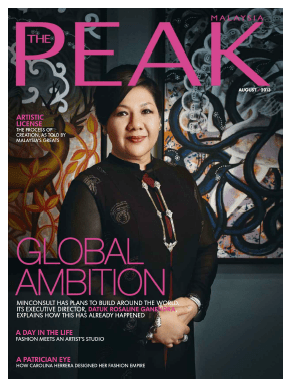 Grand Nikko Bali public relations agency client rebranding case study media coverage in The Peak Malaysia magazine