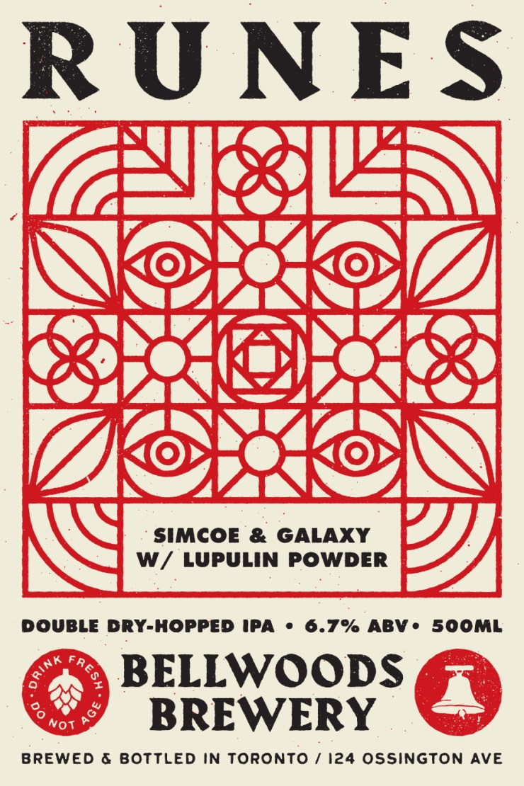 Bellwoods brewery x Doublenaut can label design