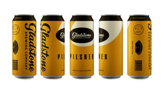 Craft beer branding with Gladstone Brewing Co, BC. Incredible beer can design