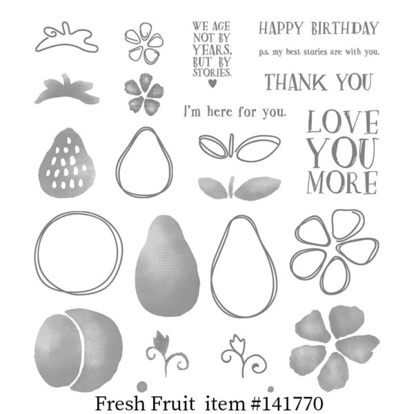 Fruit Stand Designer Series Paper The Jurassic Crafter CraftCarnivore.com