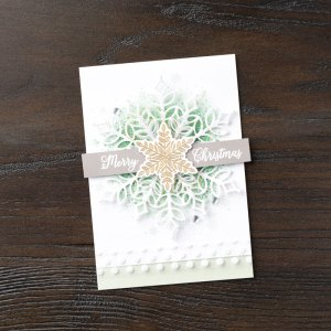 Snow Glistening - sample from Stampin' Up!