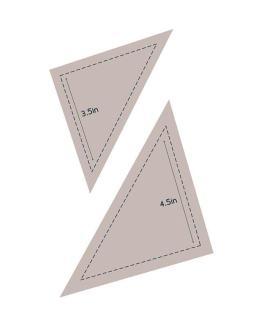 Triangle dies set