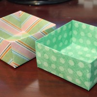 How to Make an Origami Box out of Scrapbook Paper