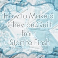 How to Make a Chevron Quilt from Start to Finish