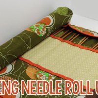 Sewn Knitting Needle Roll Up Case Tutorial