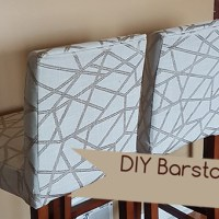 How to Sew Bar Stool Slipcovers Tutorial