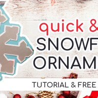 Make Quick & Easy Snowflake Ornaments with Your Cricut