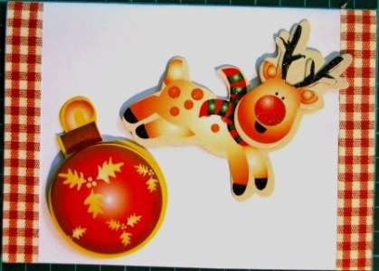 Cards Reindeer ball