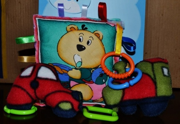 Bear Taggie, Car and Train Teethers