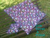 Cot duvet and cushion