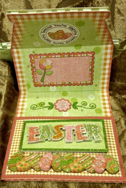 Easter Basket Easel opened - Easter Stopper