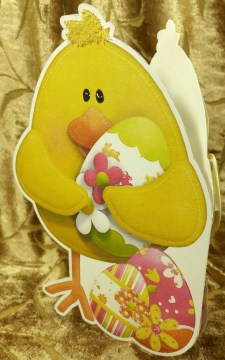 Easter Chick Shaped card Back