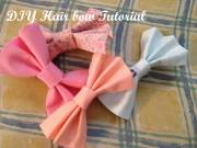 sew hair bow tutorial craft-girl's