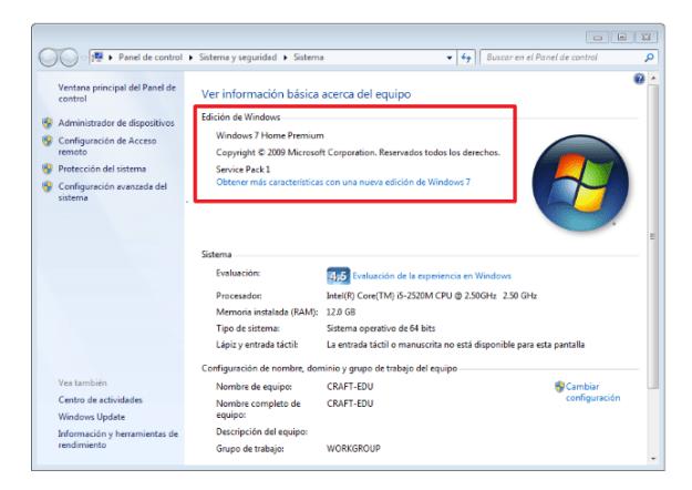 Edicion de Windows 7