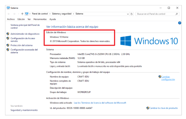 Edidicon de Windows 10