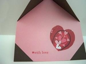 mini-Bird house valentine inside
