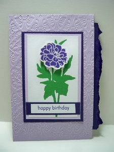 Purple envelope card