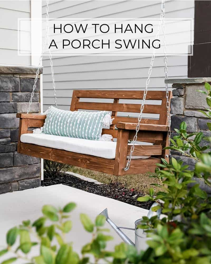 how to hang a porch swing crafted by