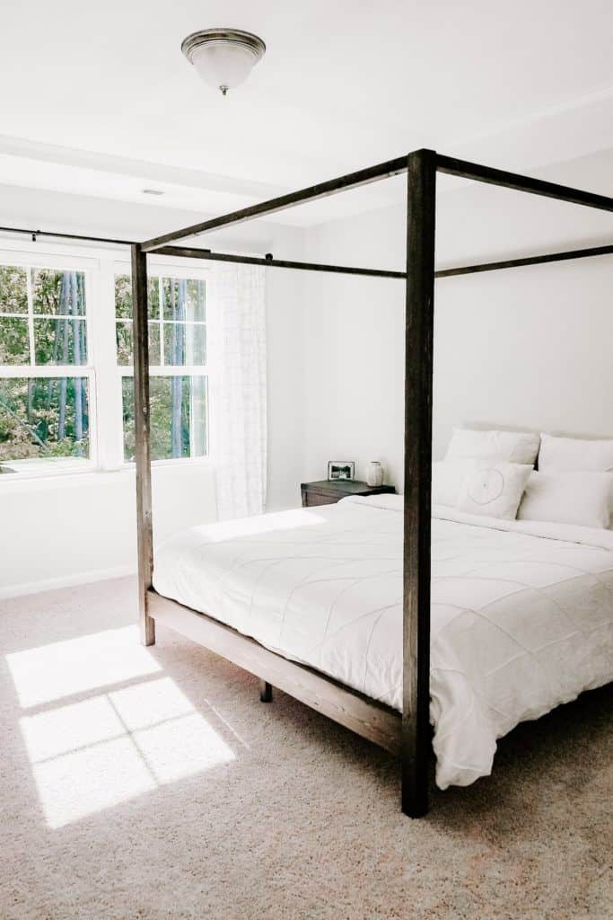 Diy Canopy Bed Crafted By The Hunts