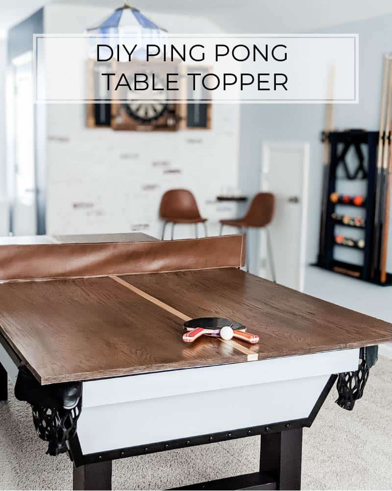 a ping pong table top for a pool table
