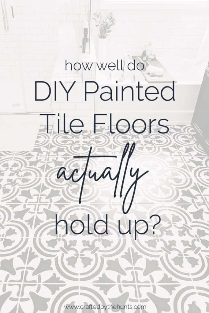 how well do painted tile floors hold up