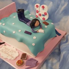 Woman on a bed 18th Birthday Cake
