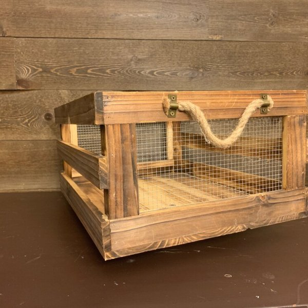 Crates (stained) with Handles