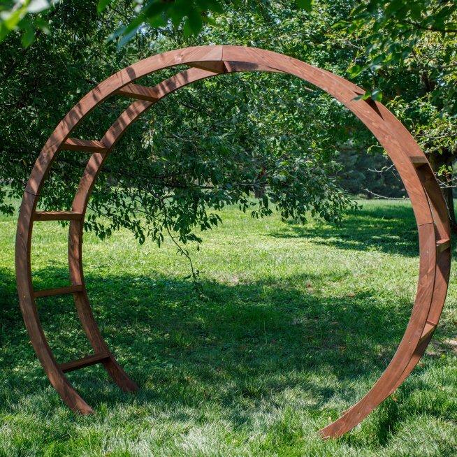 Round Wood Arbor