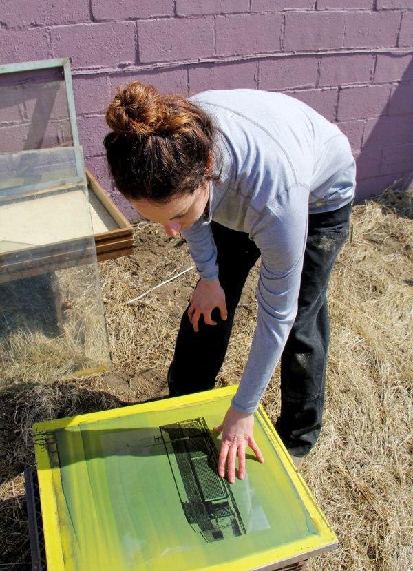 DIY Solar Screen Printing Crafted in Carhartt