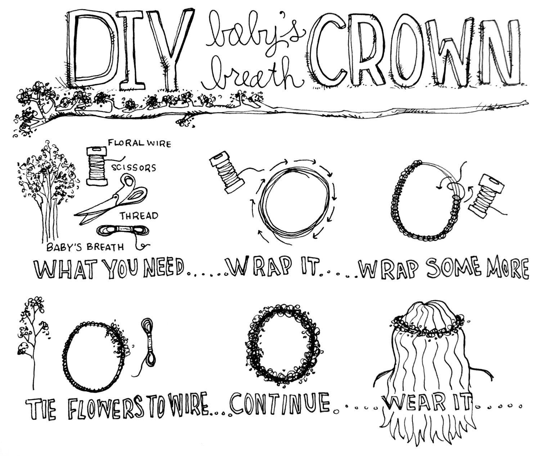 DIY: Baby's Breath Crown