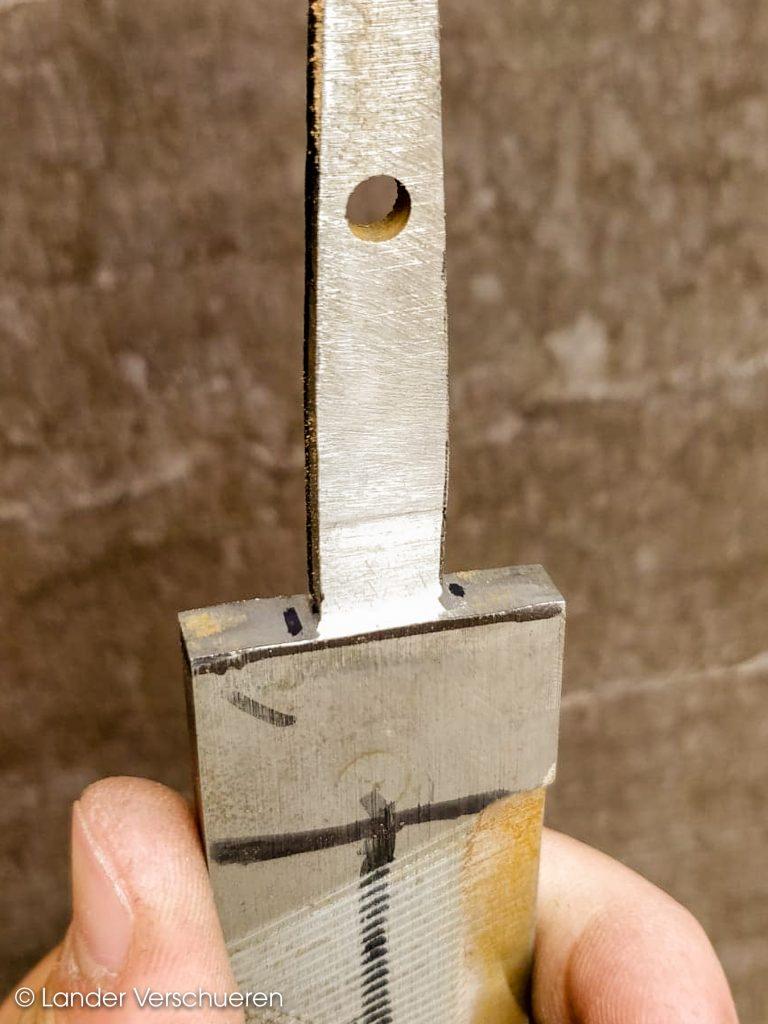 Lander Verschueren mes maken knife knives knifemaking handgemaakt handcrafted knife messen zelfgemaakt wapen staal metaal metaalbewerking dagger dolk