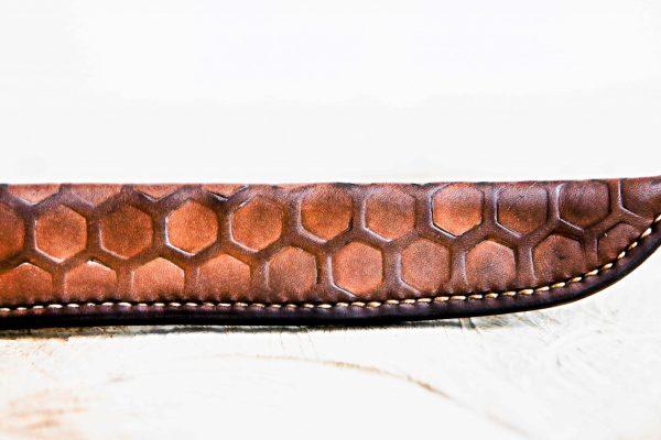 close-up schede zeshoek patroon