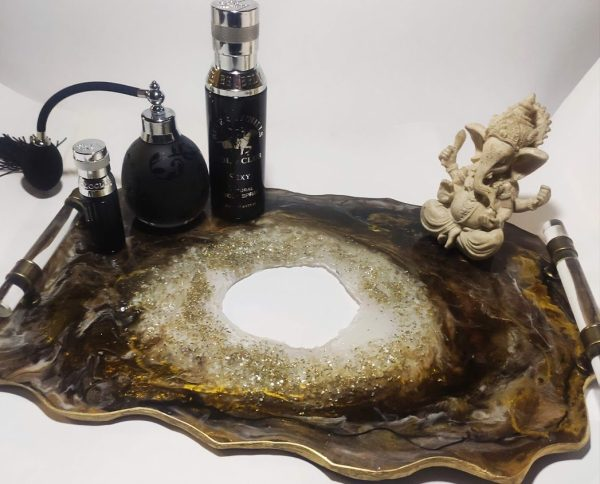 Geode Resin Tray 12in by 18in for sale