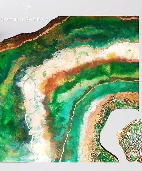 geode resin painting