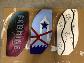 finished boards.