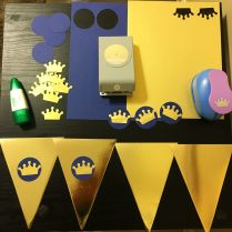 Making banners with punched crowns