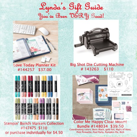 See gift recommendations available at www.lyndafalconer.stampinup.net