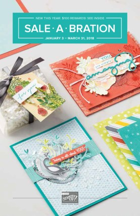 Sale-A-Bration brochure from Stampin Up Demonstrator Lynda Falconer at www.crafterinspired.com