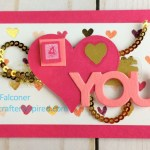 Painted With Love Designer Specialty Paper makes this valentine extra special. Created by Lynda Falconer, Stampin