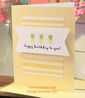 Pineapple birthday card from Tutti Frutti Suite in Stampin' Up 2018 Occasions Catalog at www.crafterinspired.com