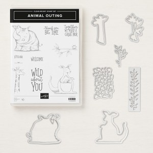 Animal Outing Bundle #149324 includes the Animal Outing Stamp Set and Animal Friends Thinlits Dies at www.lyndafalconer.stampinup.net