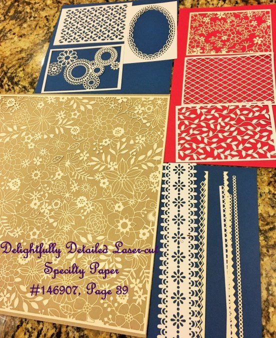 Delightfully detailed laser cut specialty paper is perfect for cards and scrapbook layouts. See it at www.lyndafalconer.stampinup.net