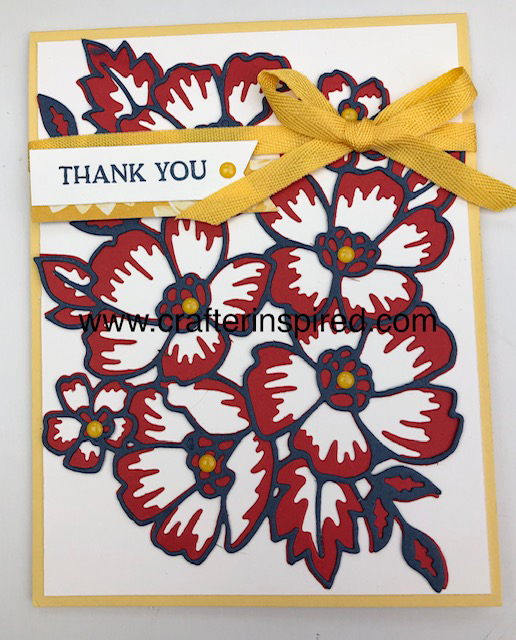 Yellow Blossoms in Bloom card by lyndafalconer.stampinup.net using Blossoms in Bloom Bundle 154123